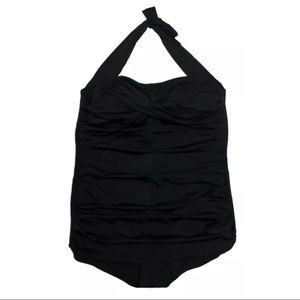 Catalina Chic Slimming One-Piece Black Swimsuit